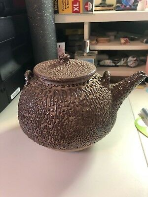 "Antique Japanese ""Wormy Wear"" Teapot - Jakatsu Glaze 19th century"