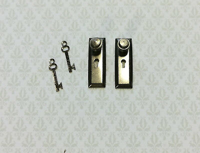 NICE Set of 2 Dollhouse Miniature 1:12 Scale Brass Faucets with Knobs #WCHW51
