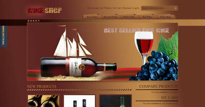 Wine eCommerce Website Business. 1-Click Install.