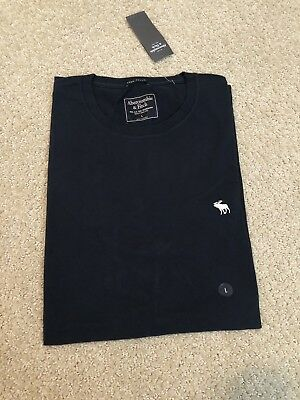 Abercrombie & Fitch Men's Icon Tee, Navy Blue, Size Large