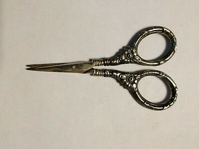 Antique VICTORIAN STERLING SILVER Sewing Scissors Germany