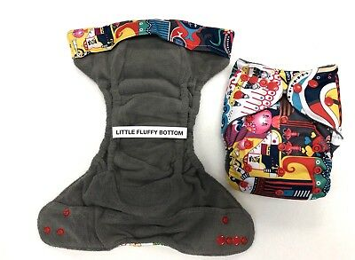NEW Custom Happy Flute Adjustable AIO Cloth Diaper, 5 Absorbent Bamboo Layers
