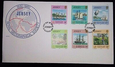 1980 Jersey Royal Geographic Society First day cover.