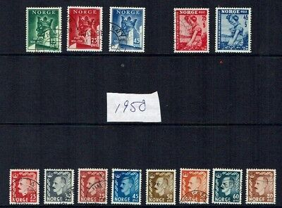 Norway stamps 1950 collection used