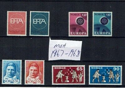 Norway stamps 1967 1968 MUH collection