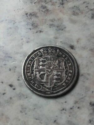 Silver 1816 George Iii Sixpence Coin