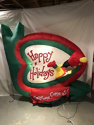 "Gemmy Airblown Christmas Inflatable ""Happy Holidays"" Sign"