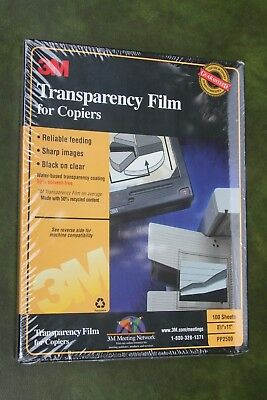 Brand NEW 3M Transparency Film for Copiers PP2500 100 Sheets in Sealed Box