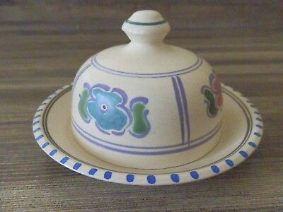 Honiton Pottery Domed/Circular Butter Dish