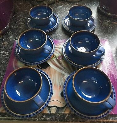 Immaculate Set Of 6 Cups & Saucers Denby Reflex
