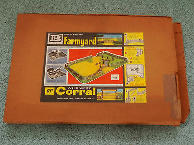 Old Vintage Britains Farm or Wild West Corral Box Set for Cowboys & Indians