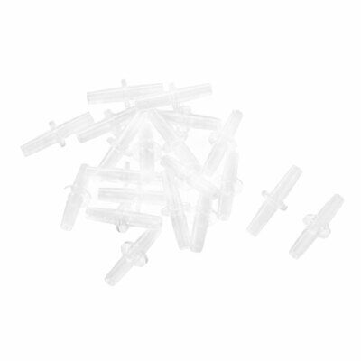 20 Pcs Clear Plastic Aquarium Air Airline Tube Pipe Pump Valve Connector Tubing