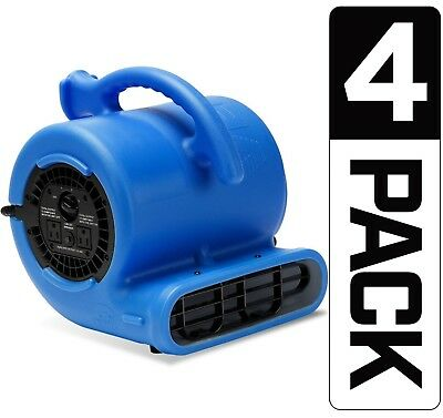 4 Pack B-Air VP-25 Air Mover Floor Blower Dryer Water Damage Restoration(Refurb)