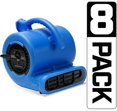 8 Pack B-Air VP-25 Air Mover Floor Blower Dryer Water Damage Restoration(Refurb)