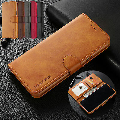 Retro Flip Leather Wallet Case Magnetic Stand Cover for Samsung Note 9 S9 A8 +