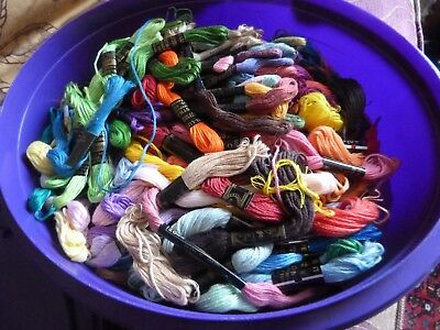 Job Lot Box of  Anchor Embroidery Silks Threads Multi colours