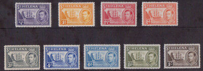 St Helena 1938-1944 short set of mounted mint mh definitive stamps x 9