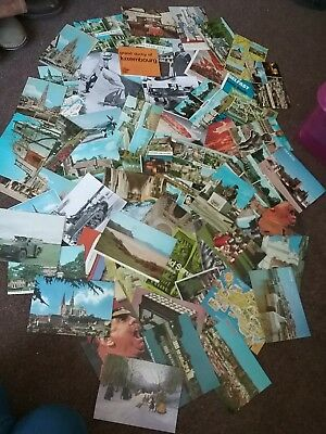 Mixed Job Lot of abroad military UK Vintage Postcards Lincolnshire traveling
