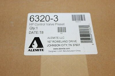 "Alemite HP Control Valve Preset Grease Gun 6320 3 New In box 1/4"" Female inlet"