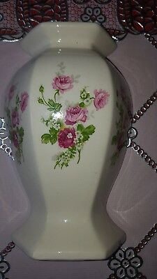 vintage wall pocket /vase english rose design