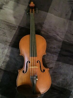 VINTAGE CONSERVATORY VIOLIN STRADIVARIUS 4/4 Germany RESTORED! Excellent!!