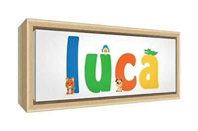(TG. 19 x 46 x 3 cm) Little Helper LHV-LUCA-1542-FCNAT-15IT Stampa su Tela Incor