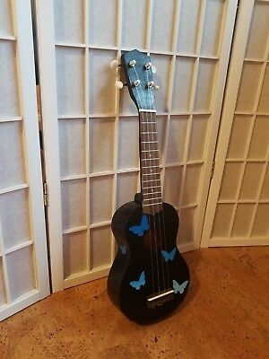 soprano ukulele, handpainted- and assembled out of basswood, unique design