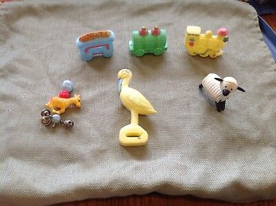 Vintage Plastic Baby Toys, 4 Are Rattles