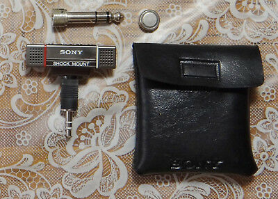 Sony Stereo Microphone ECM-101SM, shock mounted, clean and tested, extras...