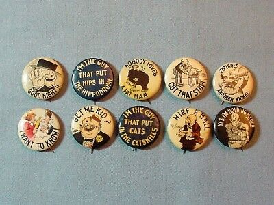 10 Cigarette Advertising Comic Pinback Buttons - Hassan Tokio  I'm the guy #7
