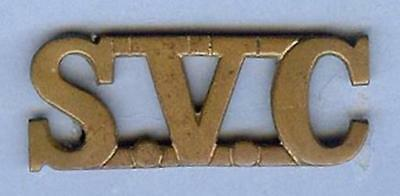 British Army Colonial Brass Shoulder Title--SVC Shanghai Volunteer Corps, RARE!