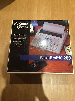 Smith Corona Wordsmith 200 Electric Typewriter Brand New In Box