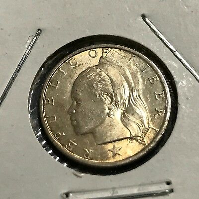 1960 Liberia Silver 10 Cents High Grade Coin