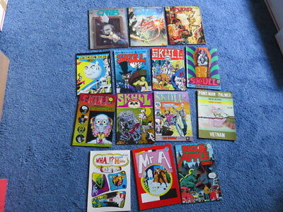 Underground Comics-Big Lot-Ditko-Skull-Orb-Mr A-Avenging World-14 Comics-Wowsers