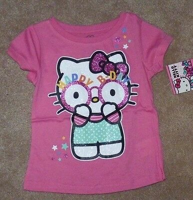 NEW Hello Kitty Happy Birthday 3T Girls Pink Toddler T Shirt NEW NWT
