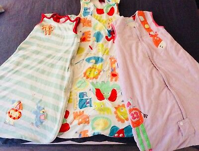 Grobag Sleeping Bags 6-18 months x 3 (two 1.00 tog, one 2.5 tog)