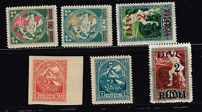 LATVIA STAMP Collection Lot   -9