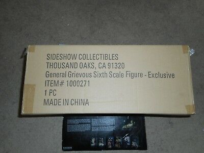 Star Wars Sideshow Exclusive General Grievous Sixth Scale Figure Sealed