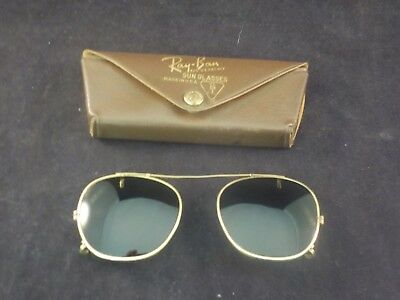 Vintage Ray-Ban Bausch & Lomb Clip On Sunglasses with Original Case