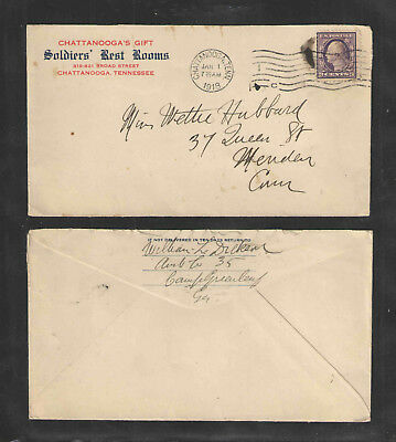 1918 Us Ww I Cover Chattanoogas Gift Soldiers Rest Rooms Chattanooga Tennessee
