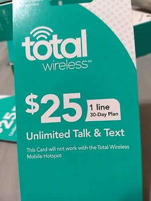 *Email Delivery* Total Wireless $25 Unlimited Talk & Text Activation/Refill Card
