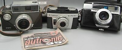 Lot of 3 Vintage Cameras / Argus Autronic 35 / a-four / automatic - No Reserve