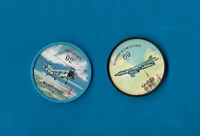 1960's Jello Airplane Coins Lot of 2  #69 & #92   NM-MT