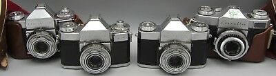 Lot of 4 Vintage Cameras Contaflex Zeiss Ikon - No Reserve
