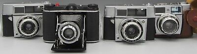 Lot of 4 Vintage Cameras AGFA Optima I / B2 - No Reserve