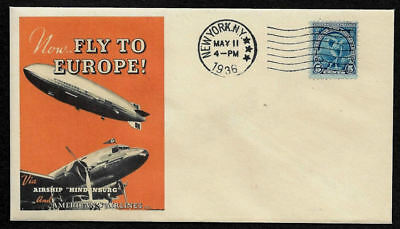 Hindenburg / American Airlines collector envelope w 80 year old stamp OP1348