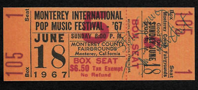 Jimi Hendrix Autograph & Monterey Ticket Reprint On Genuine 1960s Card 9042