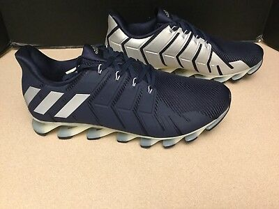 bd045f4b5666 NEW! MENS ADIDAS Springblade Pro Navy Blue Gray B49441 Running Shoes ...