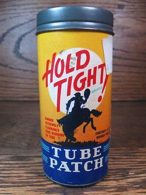 HOLD TIGHT! TUBE PATCH Kit Can ~  Western Cowboy & Bucking Bronco ~ Dallas TX ~