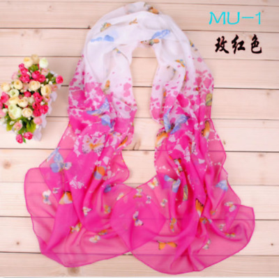 More information of Fashion Fashion's Lady Chiffon Butterfly Floral Scarf